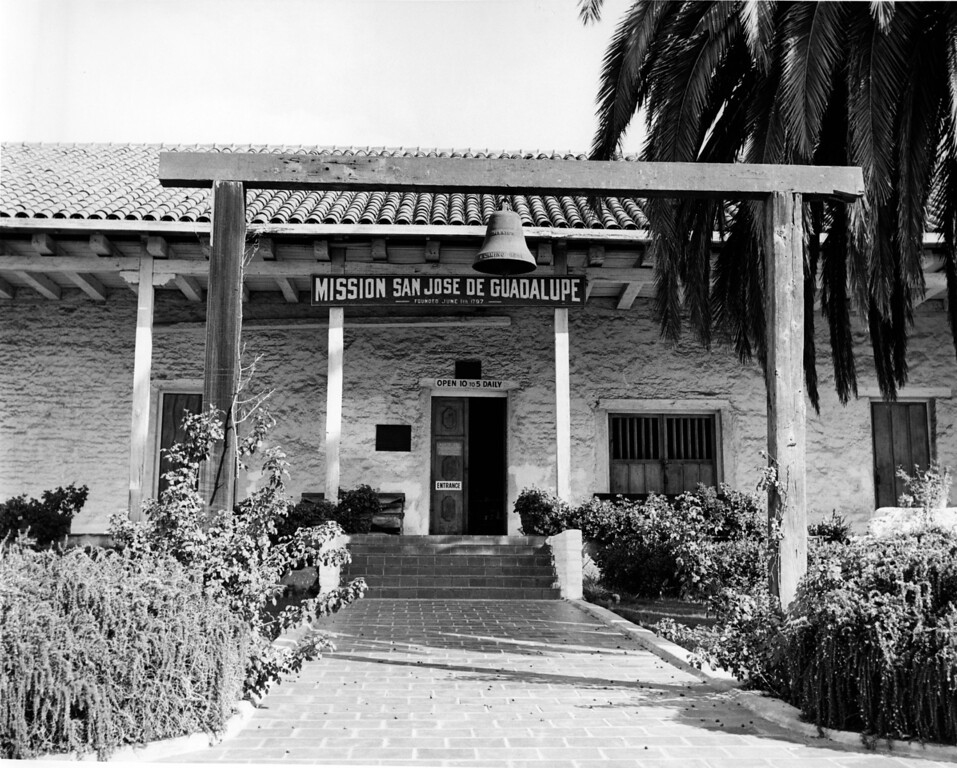 . October 30, 1964 - Entrance to the museum. The Native Sons and Daughters of the Golden West worked to restore parts of the Mission in 1915 and 1950 and turned into a museum. It is still open daily. (Erle Howery / Oakland Tribune Staff Archives)