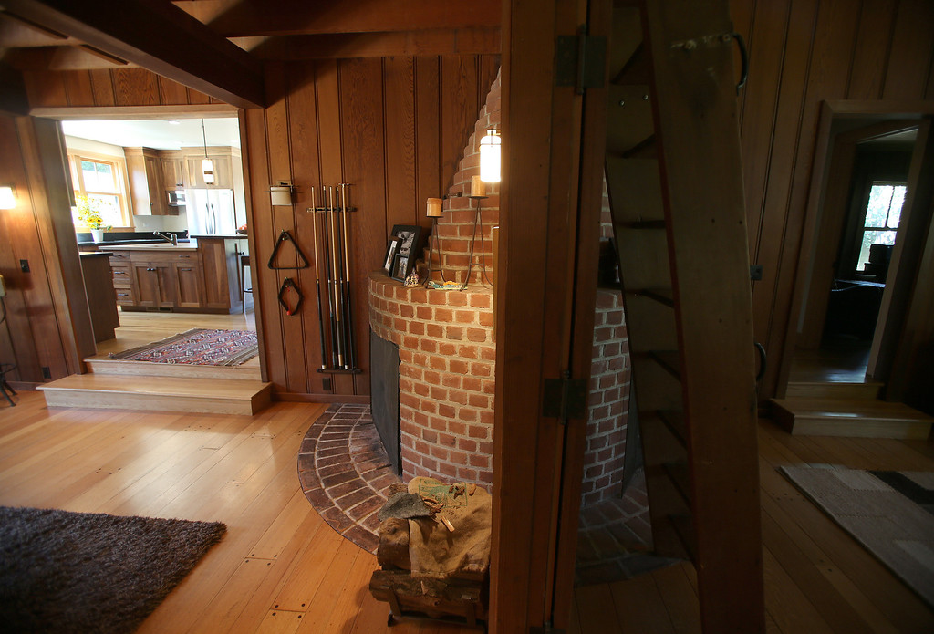 . The interior of a remodeled 1937 one-bedroom cabin is seen on Woodmont Avenue in Berkeley, Calif., on Thursday, July 25, 2013.  Architect Gustave Carlson, of Gustave Carlson Design in Berkeley, managed the project. (Jane Tyska/Bay Area News Group)