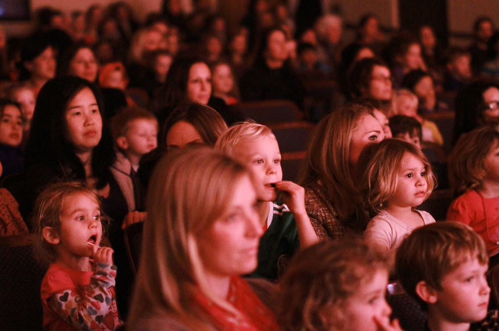. The audience watches �Goodnight Moon� at the Palo Alto Children�s Theatre on Wednesday, Feb. 6, 2013. �Goodnight Moon� is a musical by Chad Henry based on the book by Margaret Wise Brown and Clement Hurd. The musical showcases singing and dancing with nursery rhyme themes. The musical�s run ends on Sunday, Feb. 10, 2013. For more information, visit http://tinyurl.com/paloaltotheatre.  (Kirstina Sangsahachart/ Daily News)