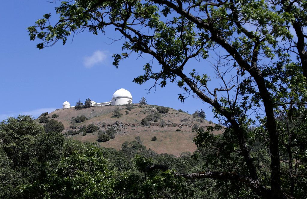 . Lick Observatory is seen atop Mt. Hamilton from Hwy. 130 east of San Jose, Calif. on Wednesday, May 8, 2013. The observatory will be celebrating its 125th anniversary.  (Gary Reyes/ Bay Area News Group)