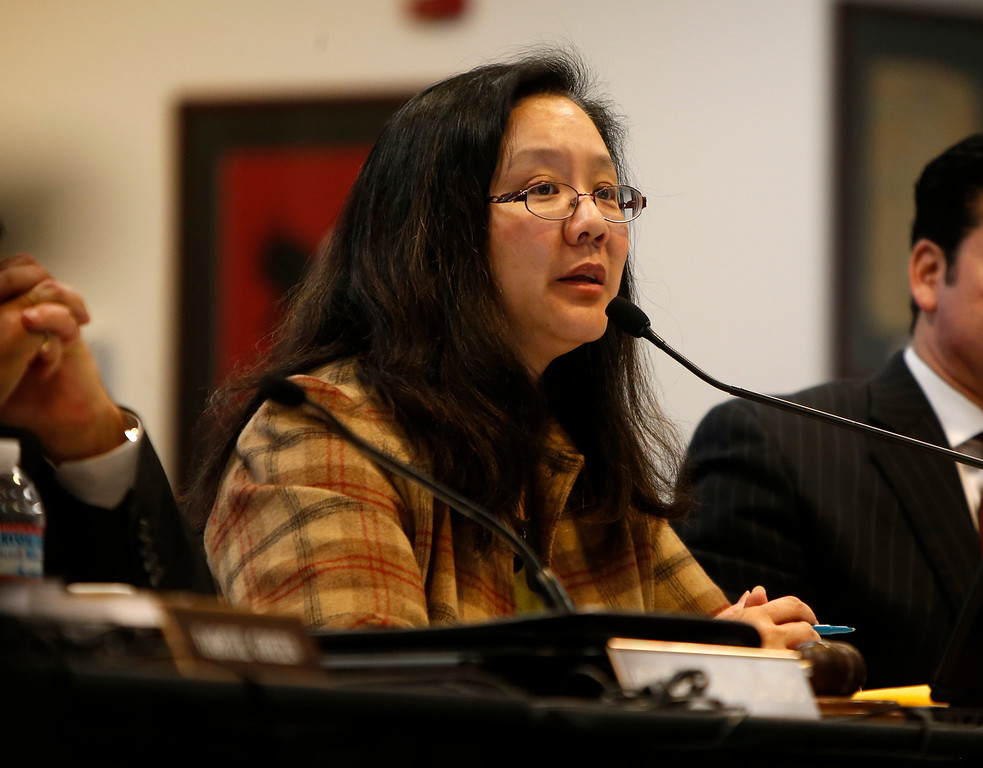 . Santa Clara County Board of Education president Grace H. Mah talks about Rocketship Education\'s petition to open a new school during a board meeting at the Santa Clara County Office of Education San Jose, Calif. on Wednesday, Jan. 23, 2013.  (Nhat V. Meyer/Staff)