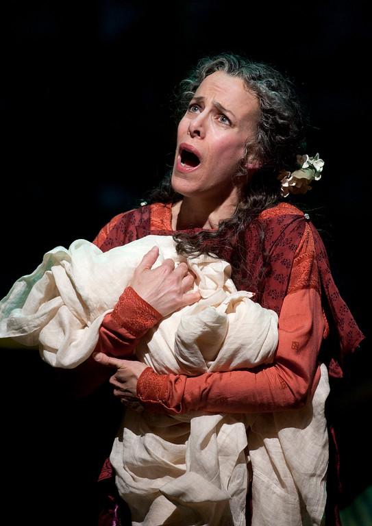 ". Soprano Maria Kanyova portrays Miriam, Yeshua\'s mother, in San Francisco Opera\'s world premiere of Mark Adamo\'s \""The Gospel of Mary Magdalene,\"" Sunday, June 16, 2013 at the War Memorial Opera House in San Francisco. (D. Ross Cameron/Bay Area News Group)"