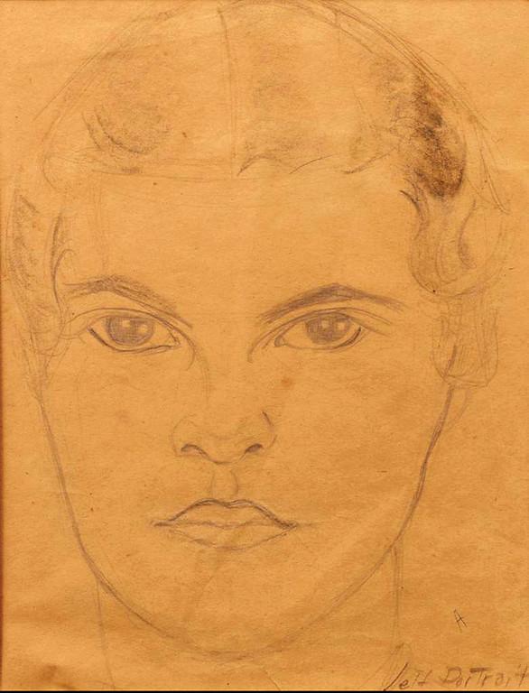 . Self-Portrait at 16, c. 1928. Copyright 2013 Eames Office, LLC (eamesoffice.com)