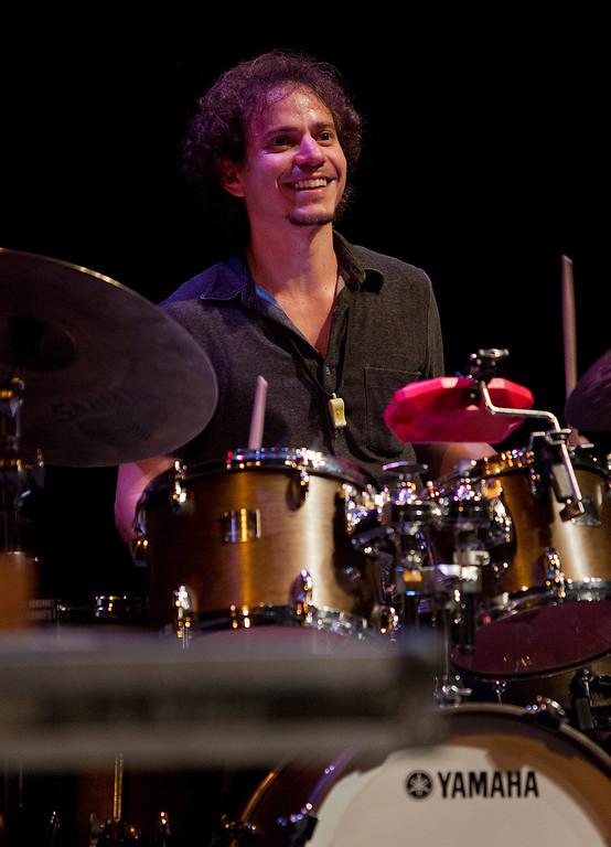 . Dafnis Prieto of the Dafnis Prieto Proverb Trio perform at the San Jose Rep Stage at the San Jose Jazz Festival, in San Jose, Calif., on Saturday Aug. 10, 2013.  (LiPo Ching/Bay Area News Group)