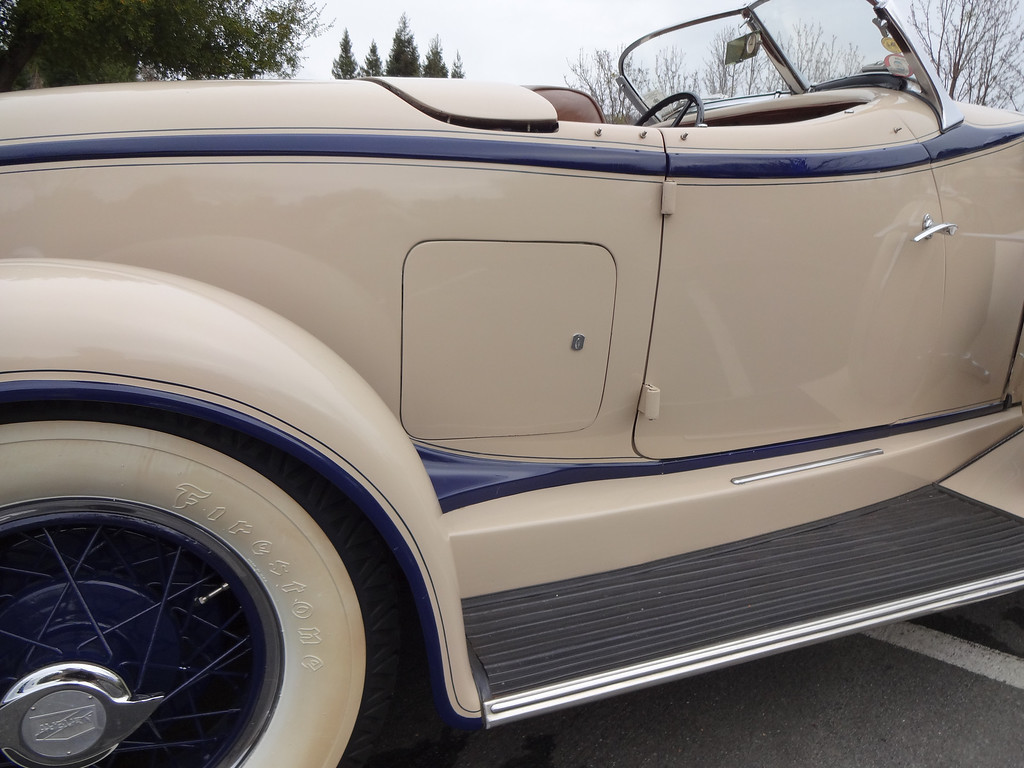 . A golf bag compartment is seen on a rare 1931 Auburn Speedster Model 8-89 owned by Lloyd Riggs of Walnut Creek, Calif. (David Krumboltz/For Bay Area News Group)
