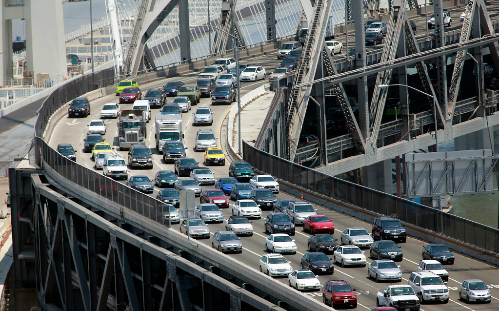 . Parking is always at a premium in downtown San Francisco, Calif., and with more cars crossing the Bay Bridge in the wake of the two-day old BART strike, some lots were charging as much as $40 to park on Tuesday morning, July 2, 2013. (Karl Mondon/Bay Area News Group)
