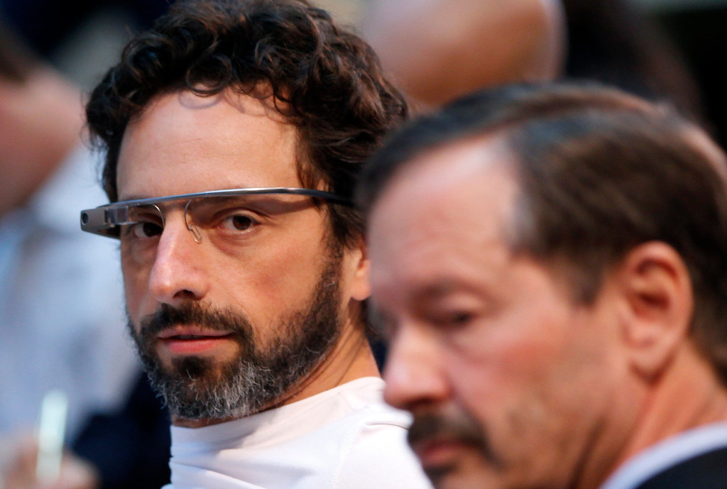 . Google co-founder Sergey Brin looks on following the Life Sciences Breakthrough Prize announcement in San Francisco, California February 20, 2013. Eleven winners of the inaugural award each received $3 million and were recognized for excellence in research aimed at curing intractable diseases and extending human life. REUTERS/Robert Galbraith