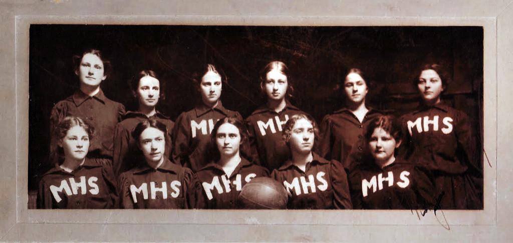 . The Anna Head School girls� basketball team, 1889.  (Head Royce School Archives)