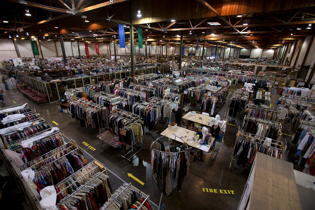 . An overview of the Oakland Museum Women\'s Board 96,000-square-foot warehouse, the site of the annual White Elephant Sale, to benefit the Oakland Museum of California, in Oakland, Calif., Tuesday, Jan. 15, 2013. (D. Ross Cameron/Staff)