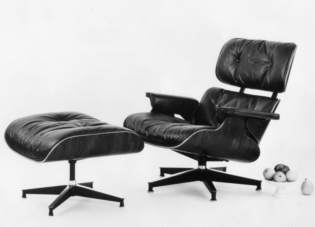 . Eames Lounge Chair & Ottoman, 1956. Copyright 2013 Eames Office, LLC (eamesoffice.com)